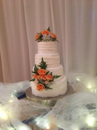 Wedding Cake- orange flower