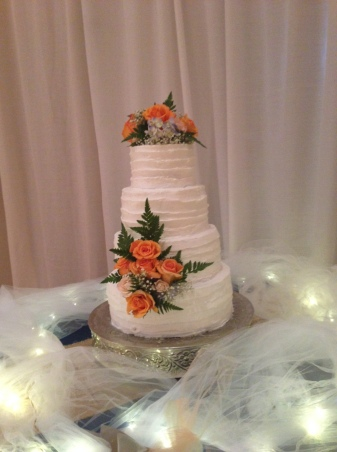 Wedding Cake- orange flower