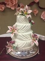 Wedding Cake-draped fondant