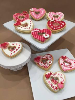valentines shaker cookies